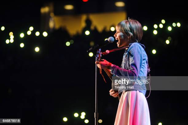 Grace VanderWaal performs at WE Day 2017 at Allstate Arena on March 1 2017 in Rosemont Illinois