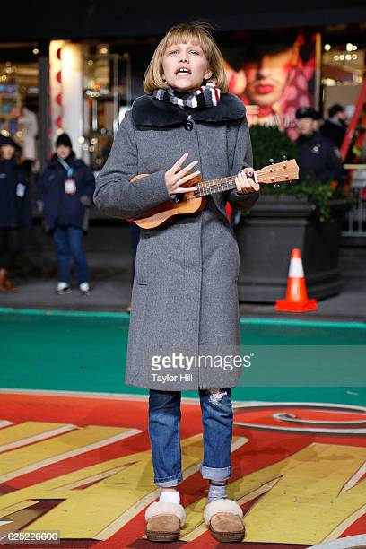 Grace VanderWaal performs during Macy's Thanksgiving Day Parade rehearsals at Macy's Herald Square on November 22 2016 in New York City