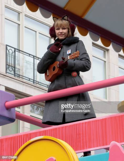 Grace VanderWaal rides in the 90th Macys Thanksgiving Day Parade in New York City New York November 24 2016