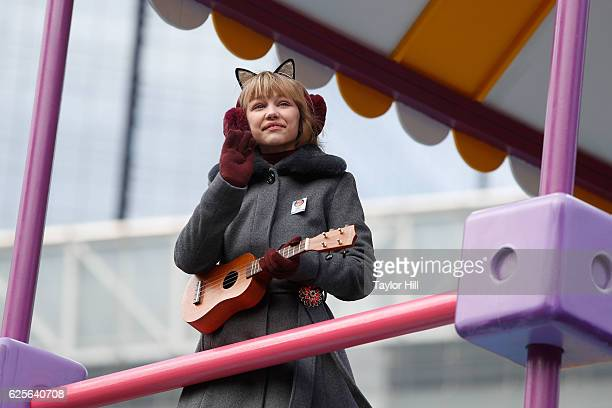 Grace VanderWaal rides in the Macy's Thanksgiving Day Parade on November 24 2016 in New York City