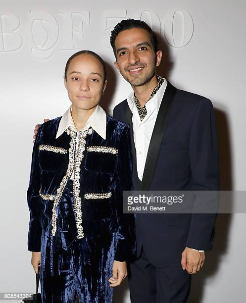 Grace Wales Bonner and Imran Amed attend the Business of Fashion #BoF500 Gala Dinner at The London EDITION on September 19 2016 in London England