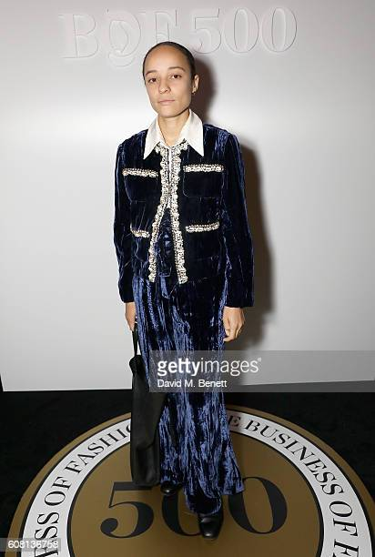 Grace Wales Bonner attends the Business of Fashion #BoF500 Gala Dinner at The London EDITION on September 19 2016 in London England