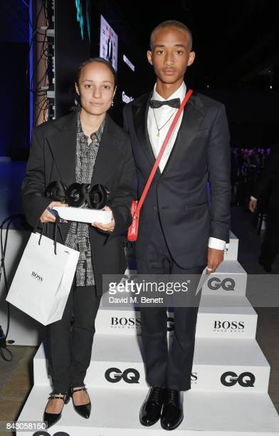 Grace Wales Bonner winner of the Breakthrough Designer of the Year award and Jaden Smith attend the GQ Men Of The Year Awards at the Tate Modern on...