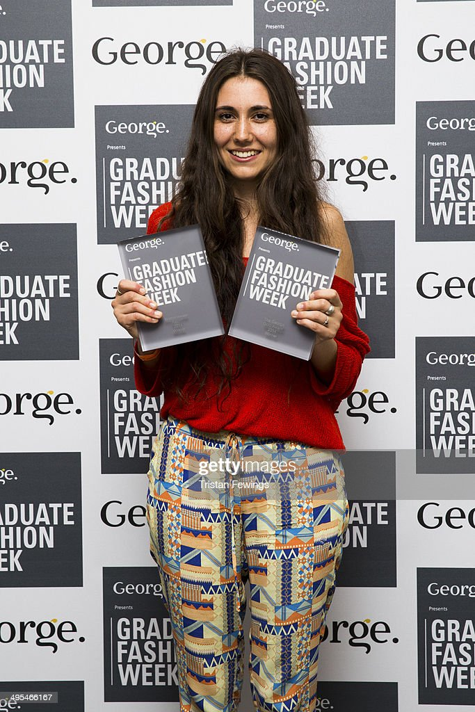 Grace Weller from Bath Spa University wins the Womenswear Award and the George Gold Award during day 4 of Graduate Fashion Week 2014 at The Old Truman Brewery on June 3, 2014 in London, England.
