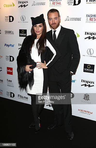 Grace Woodward and Charley Speed attend the Drapers Fashion Awards at Grosvenor House on November 21 2012 in London England