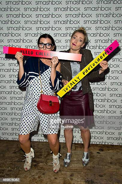 Grace Woodward and Cherry Healey attend as Smashbox Founder and Photographer Davis Factor and Cherry Healey host an Influencer dinner to celebrate...