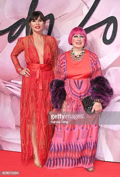 Grace Woodward and Zandra Rhodes attend The Fashion Awards 2016 at the Royal Albert Hall on December 5 2016 in London United Kingdom
