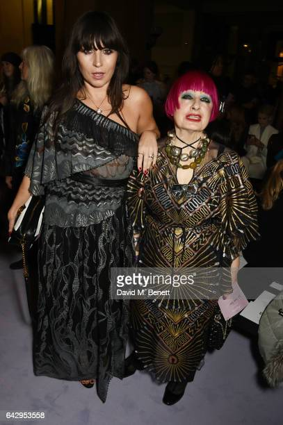 Grace Woodward and Zandra Rhodes attend the Temperley London FW 17 Fashion Show on February 19 2017 in London England