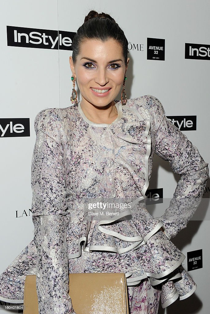 Grace Woodward arrives at the InStyle Best Of British Talent party in association with Lancome and Avenue 32 at Shoreditch House on January 30, 2013 in London, England.