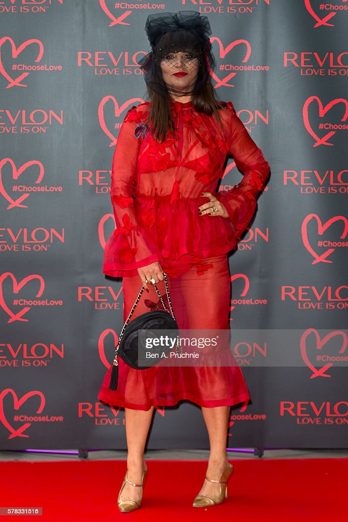 Grace Woodward arrives for the Revlon Choose Love Masquerade Ball at Victoria and Albert Museum on July 21 2016 in London England