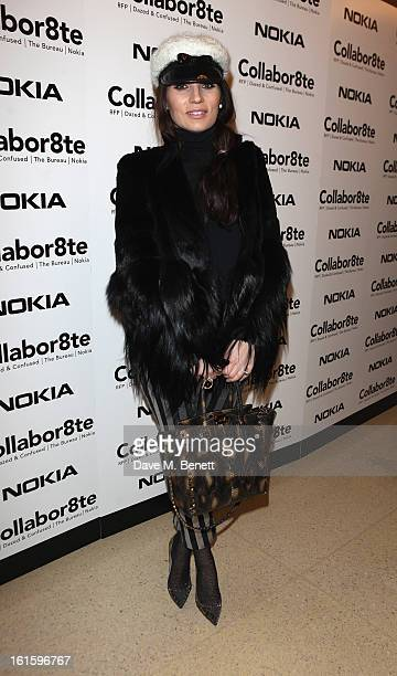 Grace Woodward attends the Collabor8te Connected by NOKIA Premiere at Regent Street Cinema on February 12 2013 in London England