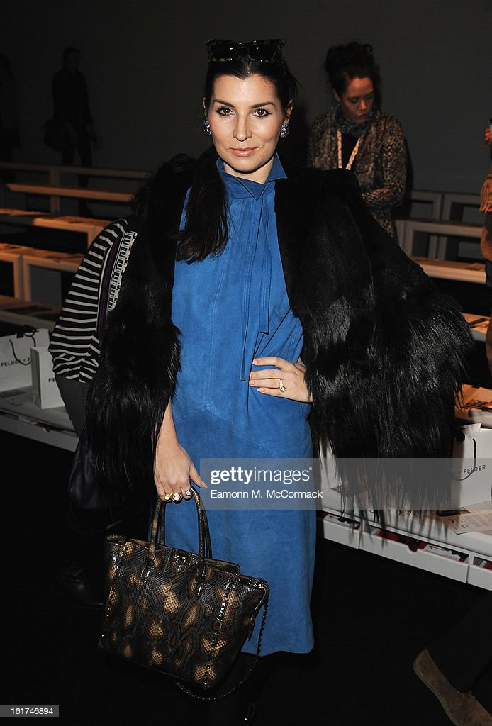 Grace Woodward attends the Felder Felder show during London Fashion Week Fall/Winter 2013/14 at Somerset House on February 15, 2013 in London, England.