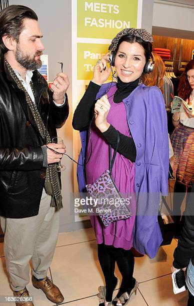 Grace Woodward attends the Panasonic Technics 'Shop To The Beat' Party hosted by George Lamb at French Connection Oxford Circus on March 13 2013 in...