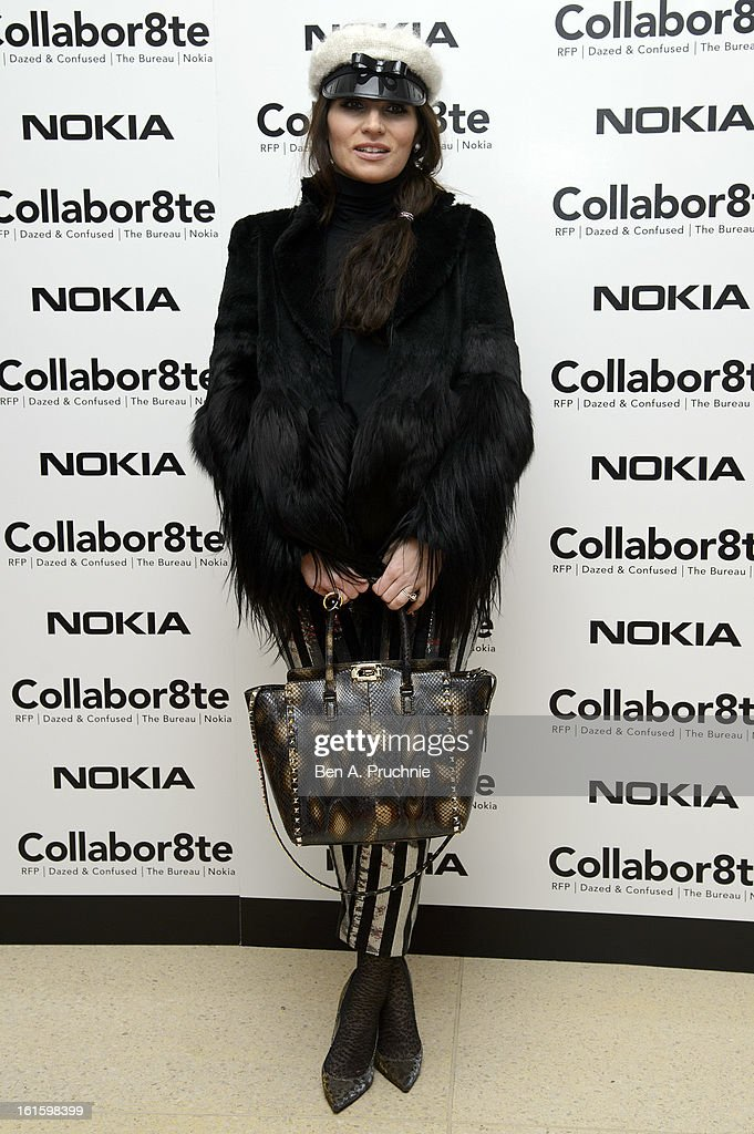 Grace Woodward attends the premiere of Rankin's Collabor8te connected by NOKIA at Regent Street Cinema on February 12, 2013 in London, England.