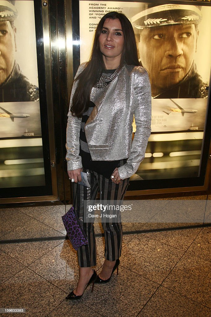 Grace Woodward attends the UK premiere of 'Flight' at The Empire Leicester Square on January 17, 2013 in London, England.