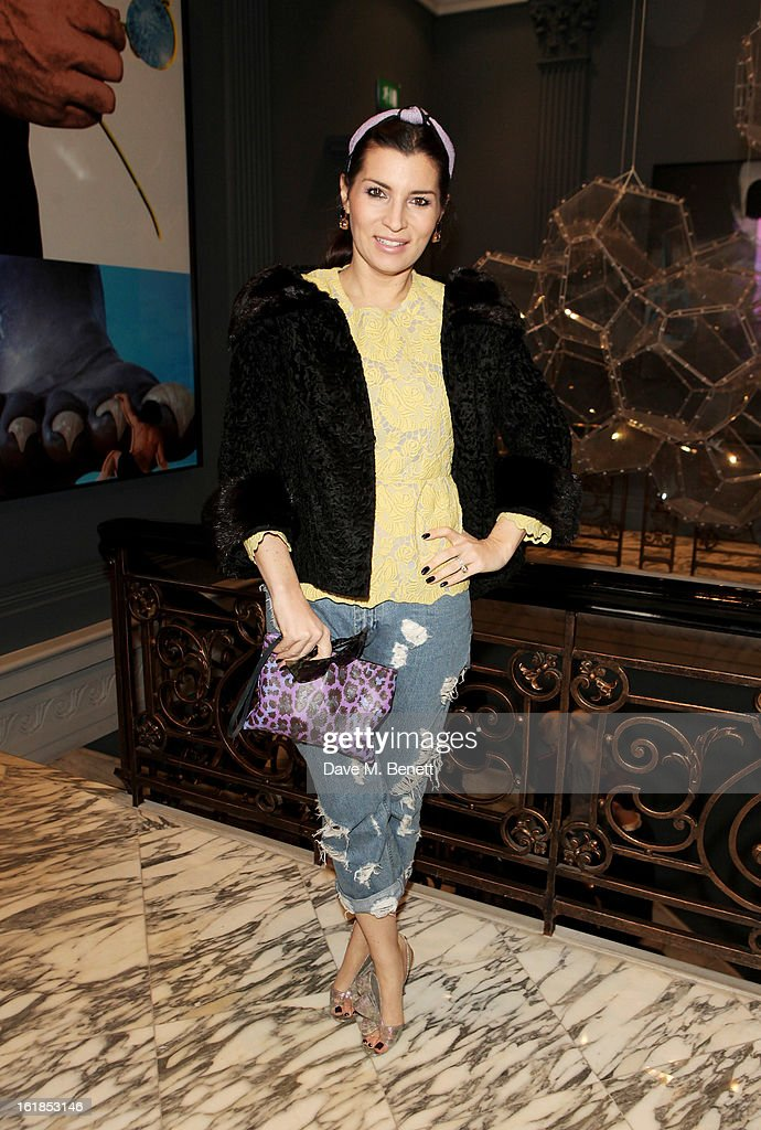 Grace Woodward attends the Whistles Limited Edition Autumn/Winter 2013 Collection at The Arts Club on February 17, 2013 in London, England.