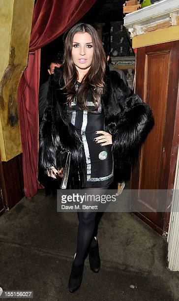 Grace Woodward celebrates at the Party After The Barclaycard Mercury Prize At The Box Soho on November 1 2012 in London England