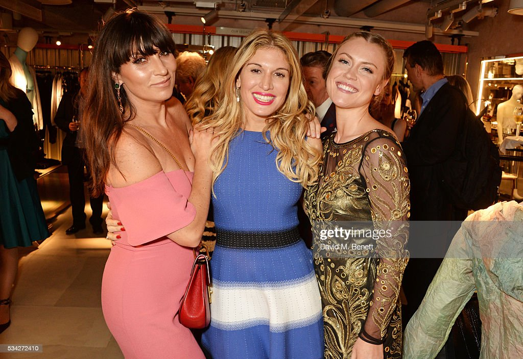 Grace Woodward, Hofit Golan and Camilla Kerslake attend the London Evening Standard Londoner's Diary 100th Birthday Party in partnership with Harvey Nichols at Harvey Nichols on May 25, 2016 in London, England.