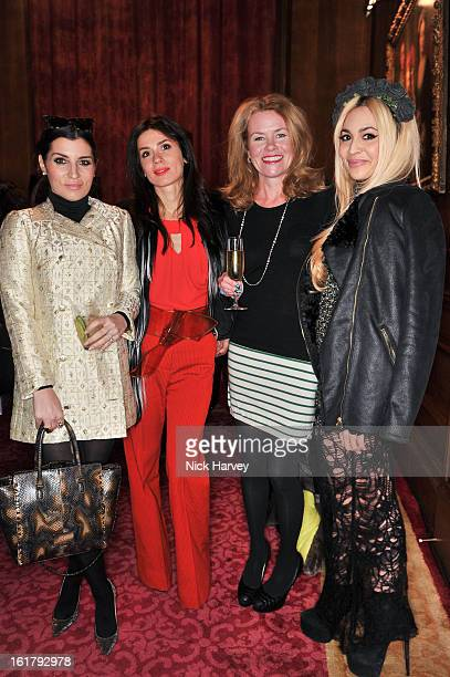 Grace Woodward Lara Bohinc Erin Morris and Zara Martin attend the Julien Macdonald show during London Fashion Week Fall/Winter 2013/14 at Goldsmiths'...