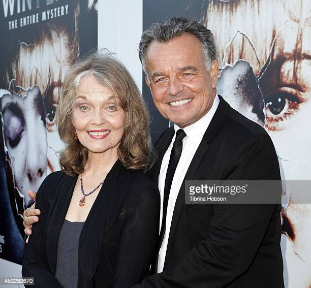 Grace Zabriskie and Ray Wise attend the 'Twin Peaks' BluRay/DVD release party and screening at the Vista Theatre on July 16 2014 in Los Angeles...
