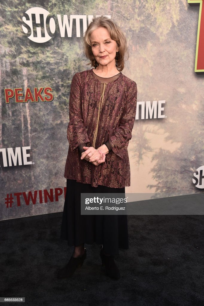 Grace Zabriskie attends the premiere of Showtime's 'Twin Peaks' at The Theatre at Ace Hotel on May 19, 2017 in Los Angeles, California.