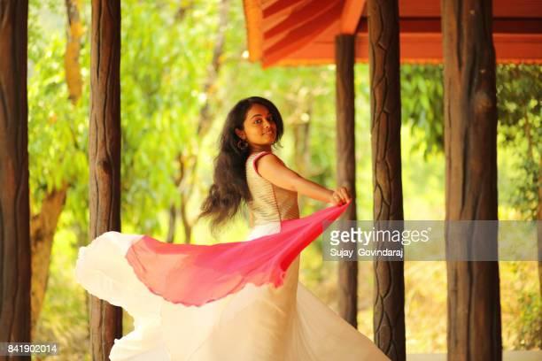 Graceful Young Woman Dancing
