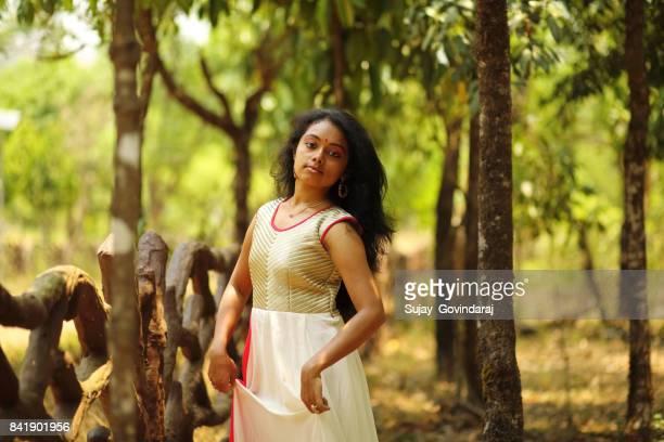 Graceful Young Woman Posing
