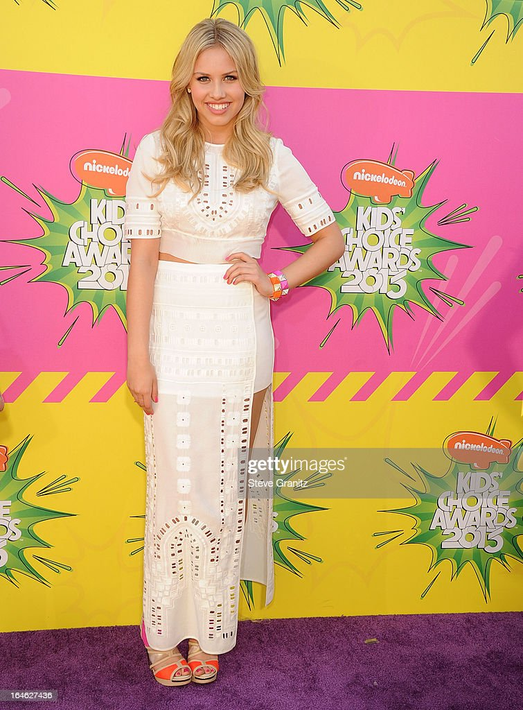 Gracie Dzienny arrives at the Nickelodeon's 26th Annual Kids' Choice Awards at USC Galen Center on March 23, 2013 in Los Angeles, California.