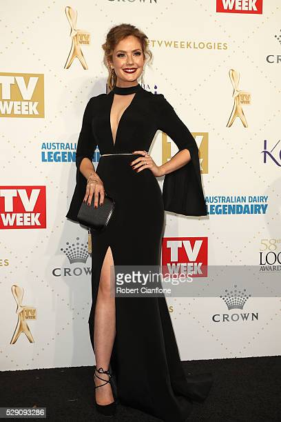 Gracie Gilbert arrives at the 58th Annual Logie Awards at Crown Palladium on May 8 2016 in Melbourne Australia