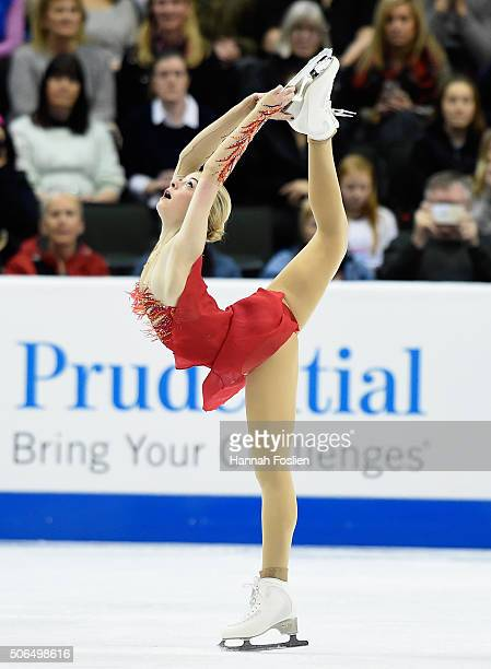Gracie Gold competes in the Ladies' Free Skate at the 2016 Prudential US Figure Skating Championship on January 23 2016 at Xcel Energy Center in St...