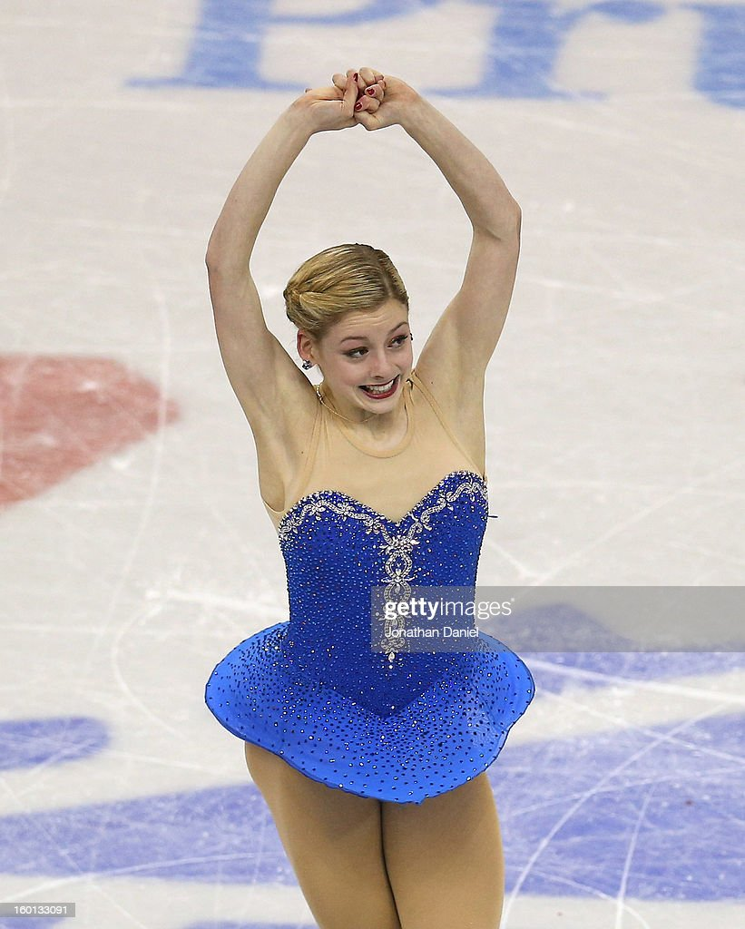 Gracie Gold competes in the Ladies Free Skate during the 2013 Prudential U.S. Figure Skating Championships at CenturyLink Center on January 26, 2013 in Omaha, Nebraska.
