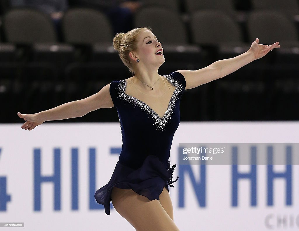 <a gi-track='captionPersonalityLinkClicked' href=/galleries/search?phrase=Gracie+Gold&family=editorial&specificpeople=9153874 ng-click='$event.stopPropagation()'>Gracie Gold</a> competes in the Ladies Short Program during the 2014 Hilton HHonors Skate America competition at the Sears Centre Arena on October 25, 2014 in Hoffman Estates, Illinois.