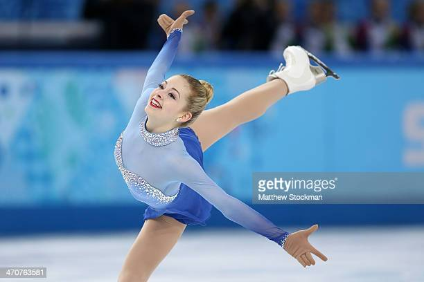 Gracie Gold of the United States competes in the Figure Skating Ladies' Free Skating on day 13 of the Sochi 2014 Winter Olympics at Iceberg Skating...