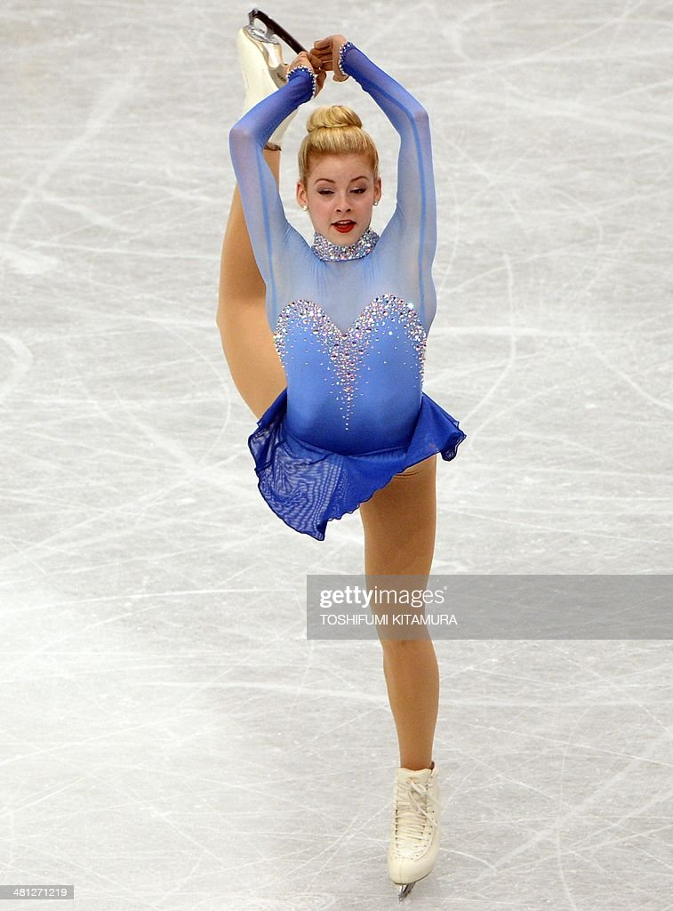 Gracie Gold of the US performs during her women's singles free skating event at the world figure skating championships in Saitama on March 29, 2014. AFP PHOTO / TOSHIFUMI KITAMURA