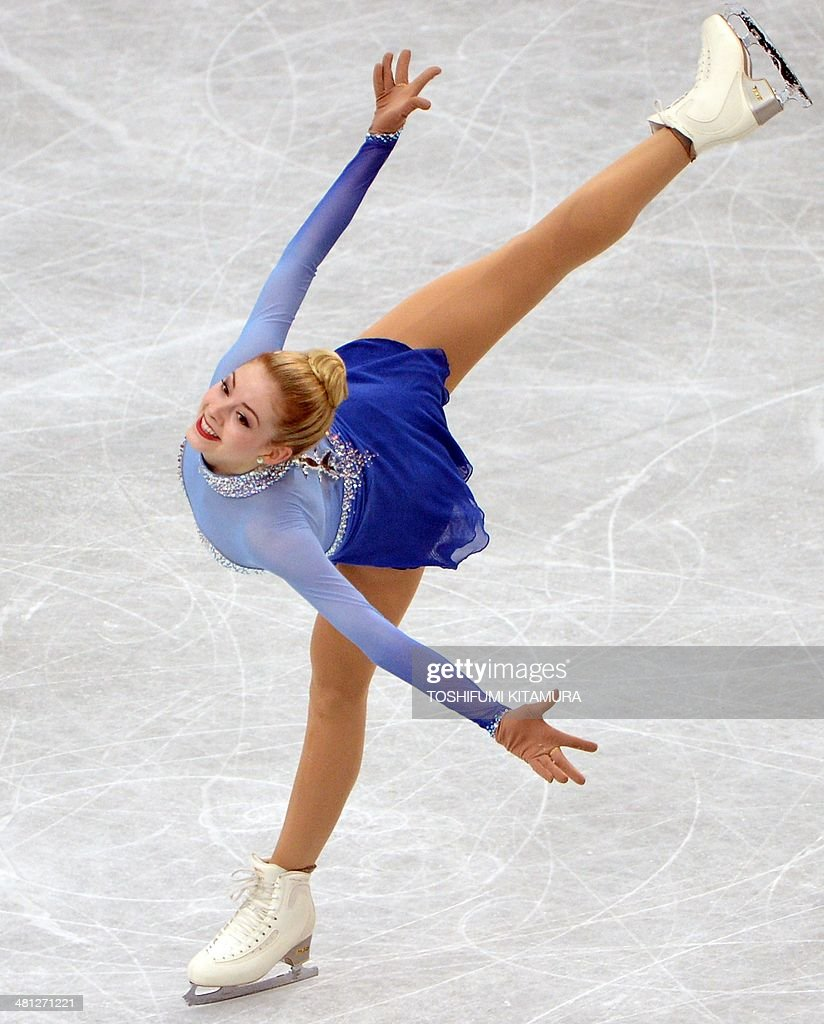 Gracie Gold of the US performs during her women's singles free skating event at the world figure skating championships in Saitama on March 29, 2014.