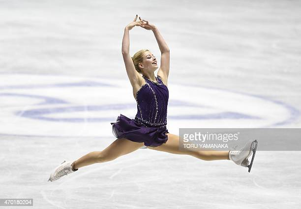 Gracie Gold of the US performs during the free skating in the women's singles event at the ISU World Team Trophy figure skating competition in Tokyo...