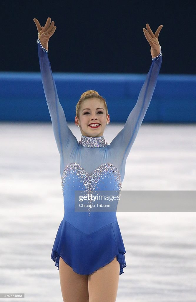 Gracie Gold of the USA after performing in the ladies' figure skating free skate at the Iceberg Skating Palace during the Winter Olympics in Sochi, Russia, Thursday, Feb. 20, 2014.