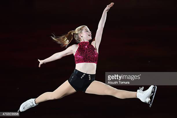 Gracie Gold of the USA performs her routine in the exhibition on the day four of the ISU World Team Trophy at Yoyogi National Gymnasium on April 19...