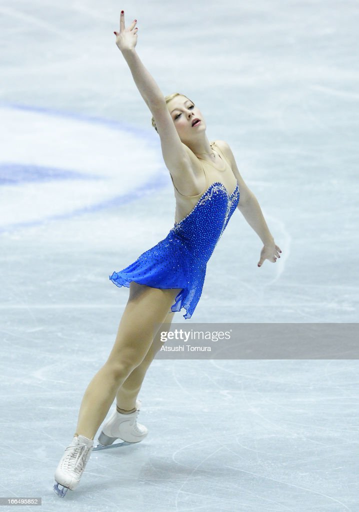 Gracie Gold of USA competes in the ladies's free skating during day three of the ISU World Team Trophy at Yoyogi National Gymnasium on April 13, 2013 in Tokyo, Japan.
