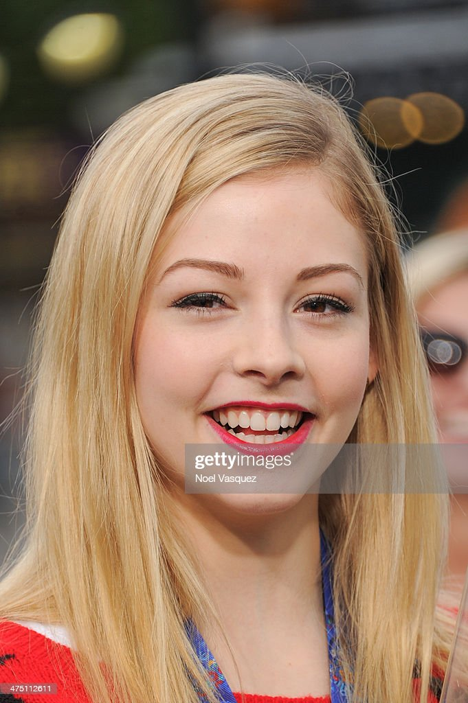<a gi-track='captionPersonalityLinkClicked' href=/galleries/search?phrase=Gracie+Gold&family=editorial&specificpeople=9153874 ng-click='$event.stopPropagation()'>Gracie Gold</a> visits 'Extra' at Universal Studios Hollywood on February 26, 2014 in Universal City, California.