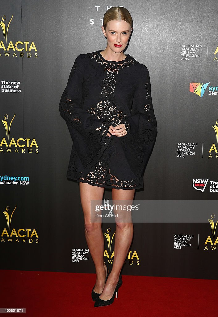 Gracie Otto arrives at the 3rd Annual AACTA Awards Ceremony at The Star on January 30, 2014 in Sydney, Australia.