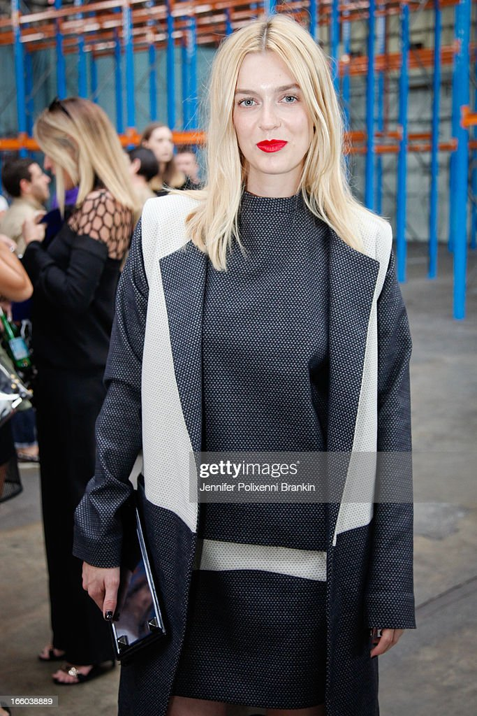 Gracie Otto attends the Christopher Esber show during Mercedes-Benz Fashion Week Australia Spring/Summer 2013/14 at 10 Carrington Rd, Marrickville, on April 8, 2013 in Sydney, Australia.