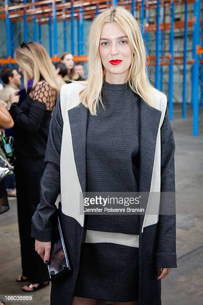 Gracie Otto attends the Christopher Esber show during MercedesBenz Fashion Week Australia Spring/Summer 2013/14 at 10 Carrington Rd Marrickville on...