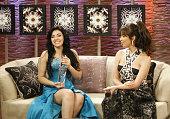 Graciela Beltran and Giselle Blondet during Premio Lo Nuestro a la Musica Latina 2007 Lo Que No Se Vio Backstage at American Airlines Arena in Miami...