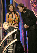 Graciela Beltran and Jorge Correa during 2004 Premio Lo Nuestro Show at Miami Arena in Miami Florida United States