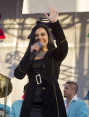 Graciela Beltran performs with her band at the Latin Grammy Street Party on October 7 2012 in Houston Texas