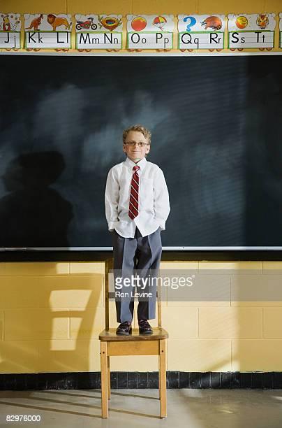 Grade 1 student in classroom