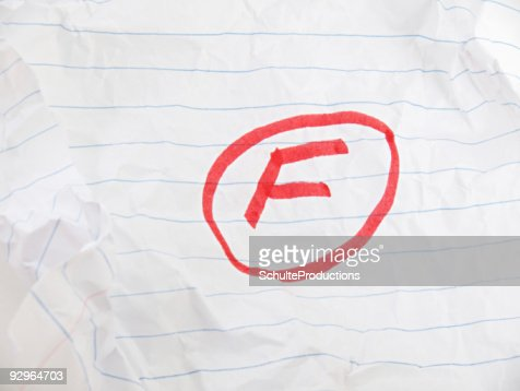 Grade F on Paper : Stock Photo