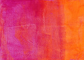 An hand painted background. The prominent colors are shades of vibrant shades of yellow, orange and pink There is a slight gradient of color with mottled texture throughout the painting.