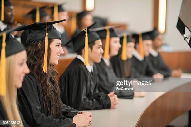 Graduates Listening to a Speech